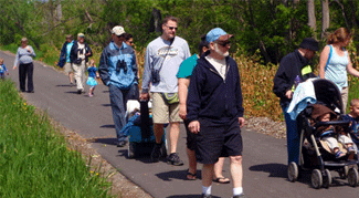 People Walking the Trail